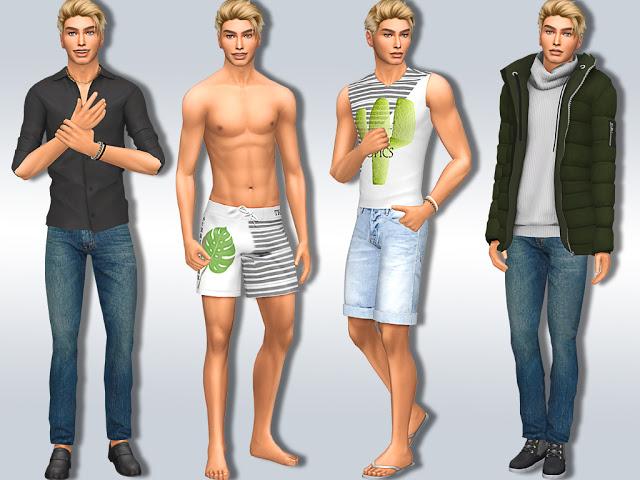 Sims 4 Travis Noel at MSQ Sims