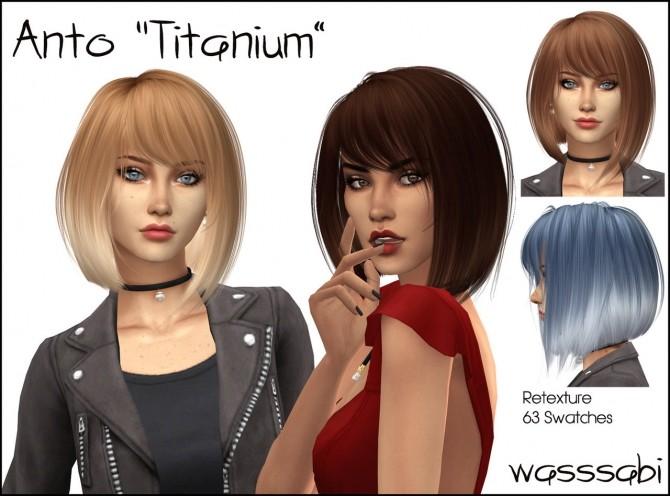 Sims 4 Antos Titanium hair retexture at Wasssabi Sims