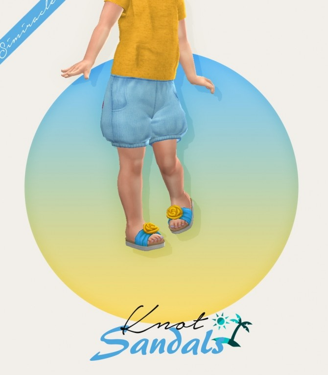 Sims 4 Knot Sandals Toddler Version at Simiracle