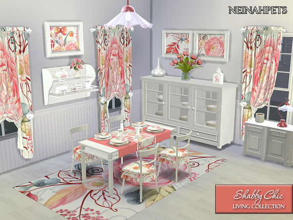 Shabby Chic Dining Collection by neinahpets at TSR image 1310 Sims 4 Updates
