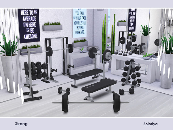 Sims 4 Strong items for gym by soloriya at TSR