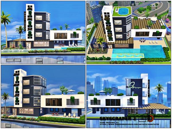 Sims 4 Skyscraper 2 by Danuta720 at TSR
