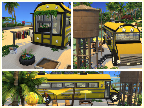 Sims 4 Off the Grid Bus by LCSims at TSR