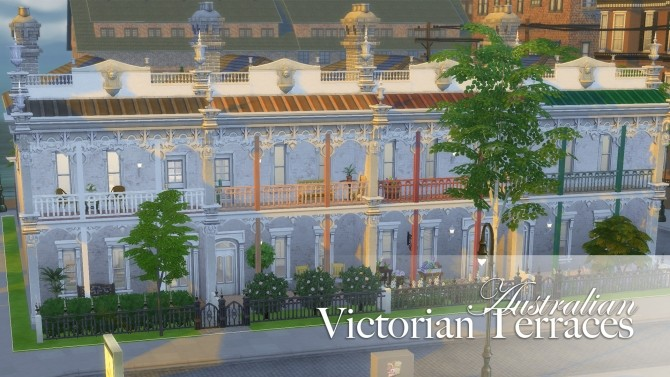 Sims 4 Victorian Australian Terraced Houses by FernSims at Mod The Sims