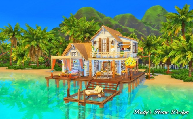 Beach Hideout House at Ruby's Home Design image 1357 670x415 Sims 4 Updates