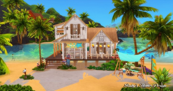 Beach Hideout House at Ruby's Home Design image 1367 670x355 Sims 4 Updates