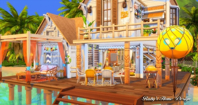 Beach Hideout House at Ruby's Home Design image 1377 670x355 Sims 4 Updates