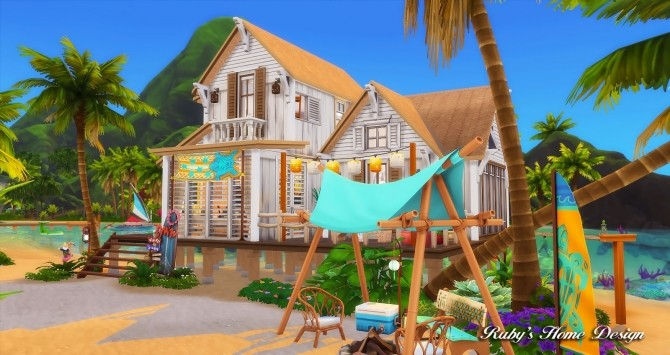 Beach Hideout House at Ruby's Home Design image 1386 670x355 Sims 4 Updates