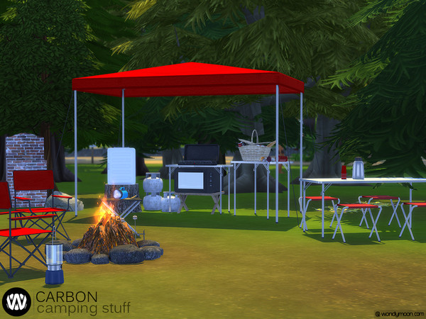 Carbon Camping Stuff Part II by wondymoon at TSR image 1388 Sims 4 Updates
