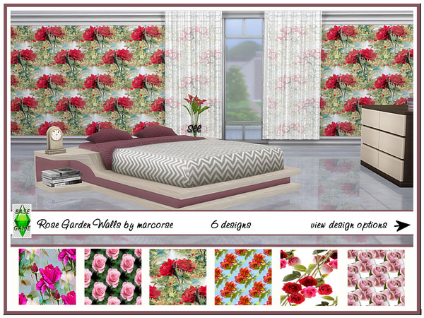 Rose Garden Walls by marcorse at TSR image 1390 Sims 4 Updates