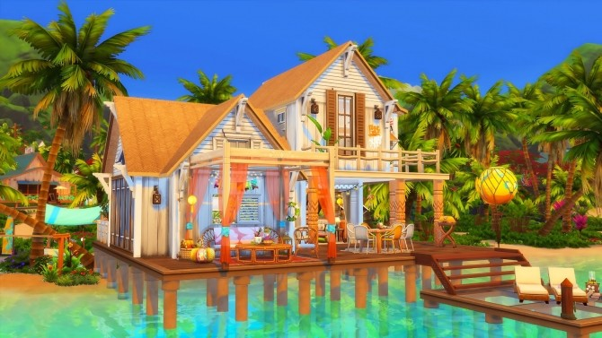 Beach Hideout House at Ruby's Home Design image 1396 670x377 Sims 4 Updates