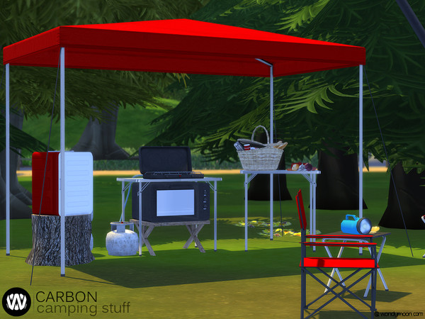 Carbon Camping Stuff Part II by wondymoon at TSR image 1397 Sims 4 Updates