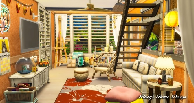 Beach Hideout House at Ruby's Home Design image 1406 670x355 Sims 4 Updates