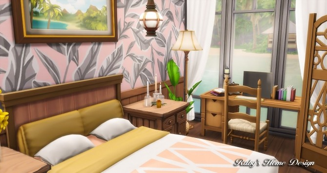 Sims 4 Beach Hideout House at Ruby's Home Design
