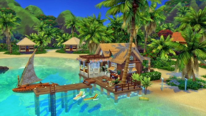 Sims 4 Small Sulani Bungalow No CC by Chaosking at Mod The Sims