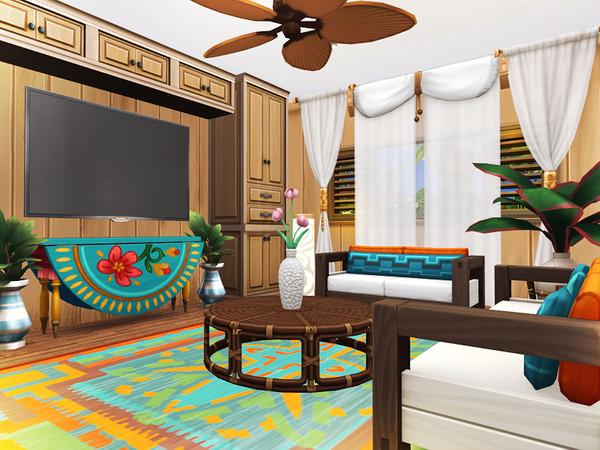 Sims 4 Yasha cosy beach retreat by Rirann at TSR