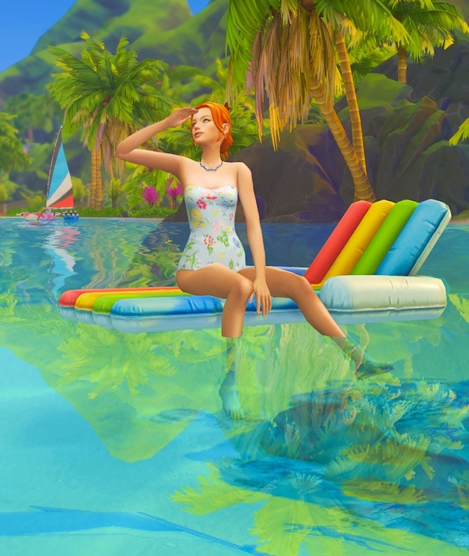 Sims 4 With floating lounge (solo) poses at Rethdis love
