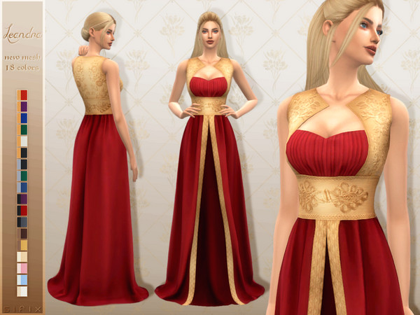 Sims 4 Leandra Gown by Sifix at TSR