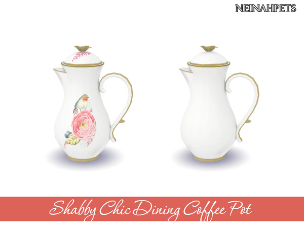 Shabby Chic Dining Collection by neinahpets at TSR image 1510 Sims 4 Updates