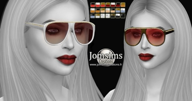 Bling bling 3 sunglasses at Jomsims Creations image 15110 670x355 Sims 4 Updates