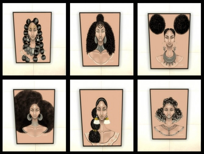 African Tresses wall art at Paradoxx Sims image 1523 670x506 Sims 4 Updates