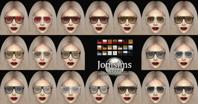 Bling bling 3 sunglasses at Jomsims Creations image 1524 670x355 Sims 4 Updates