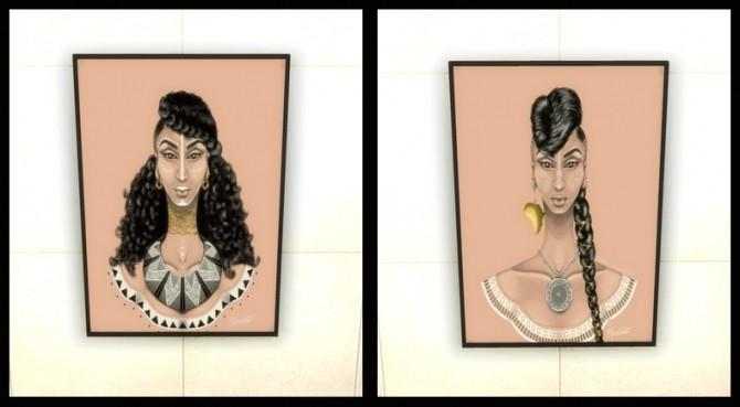 Sims 4 African Tresses wall art at Paradoxx Sims