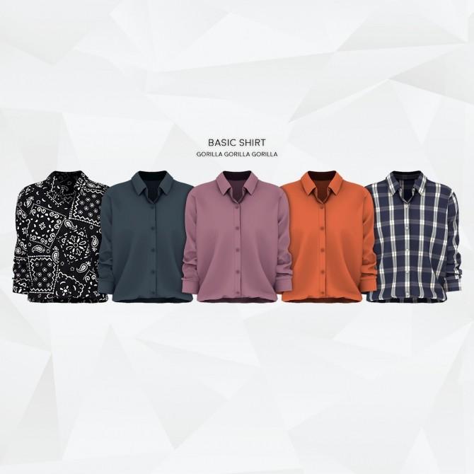 Basic Shirt at Gorilla image 1544 670x670 Sims 4 Updates