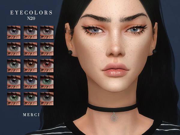 Sims 4 Eyecolors N20 by Merci at TSR