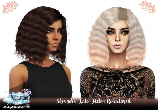 Sims 4 Anto Helen Hair Retexture Child & Toddler + Ombre Naturals + Unnaturals at Shimydim Sims