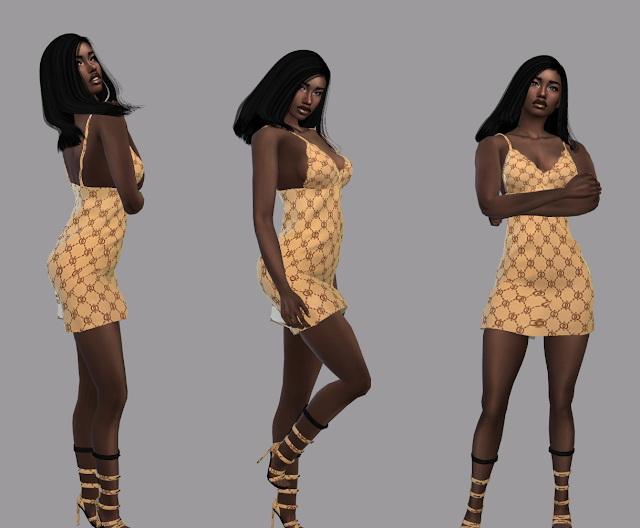 Sims 4 MochaCombo dress at Teenageeaglerunner