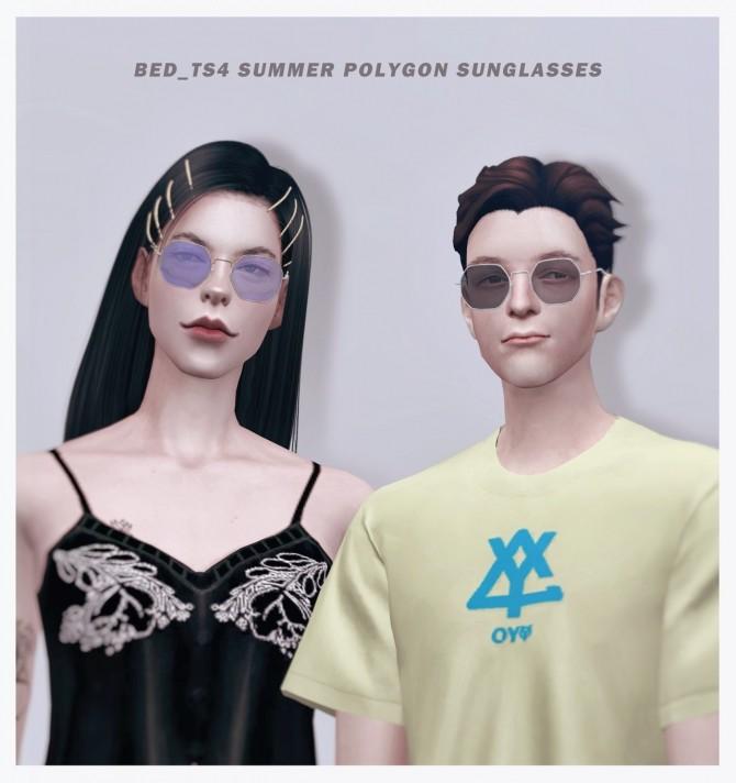 M&FM Summer polygon sunglasses at Bedisfull – iridescent image 1593 670x712 Sims 4 Updates