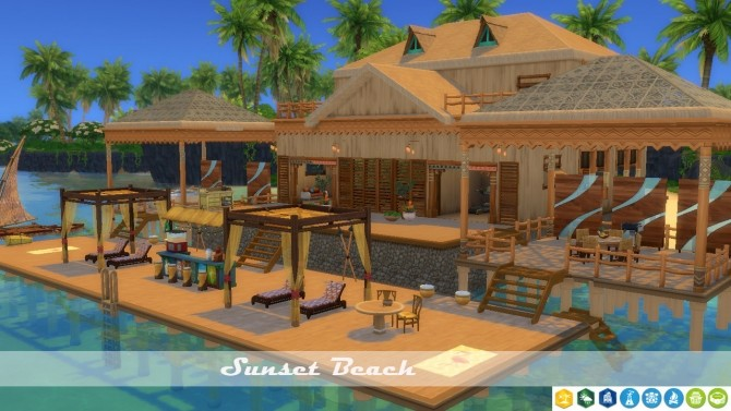 Sunset Beach house no CC at Tatyana Name image 1602 670x377 Sims 4 Updates