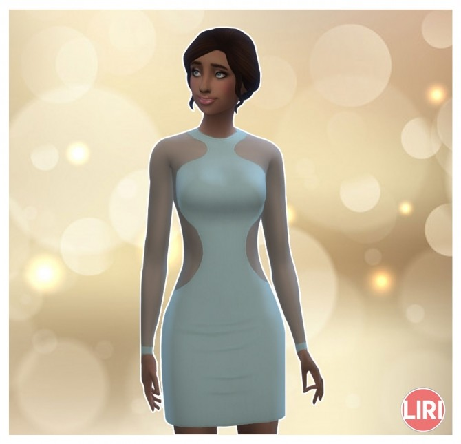 Sims 4 Chiffon Party Dress by Lierie at Mod The Sims
