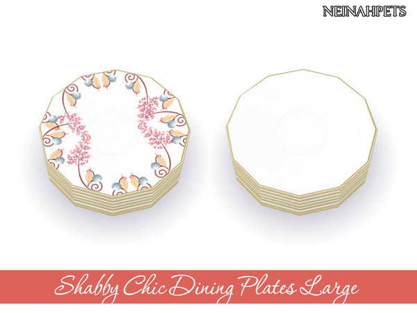 Shabby Chic Dining Collection by neinahpets at TSR image 1610 Sims 4 Updates