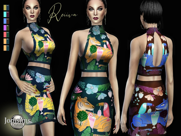 Sims 4 Reiiva dress by jomsims at TSR
