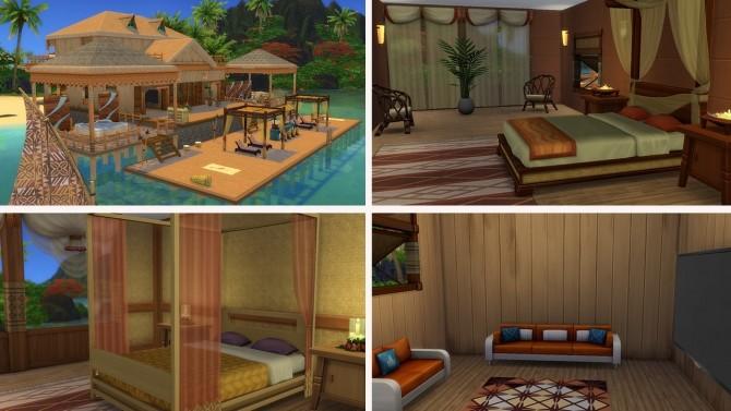 Sims 4 Sunset Beach house no CC at Tatyana Name