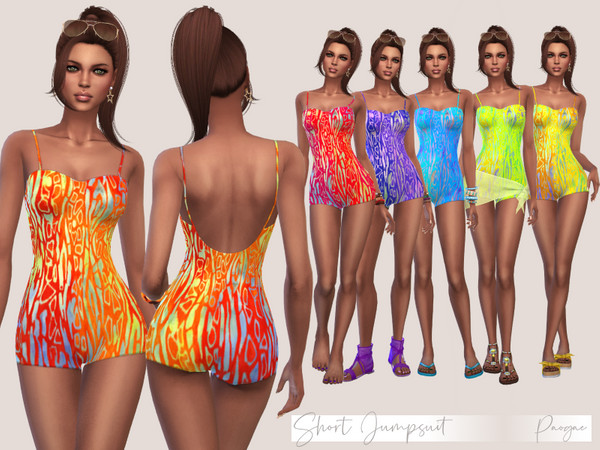 Sims 4 Short Jumpsuit by Paogae at TSR