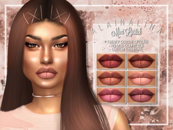 Sims 4 Mimi Lipstick at AlainaLina