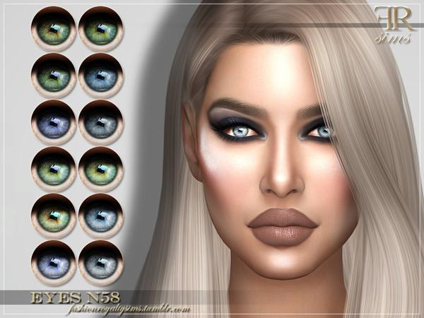 Sims 4 FRS Eyes N58 by FashionRoyaltySims at TSR