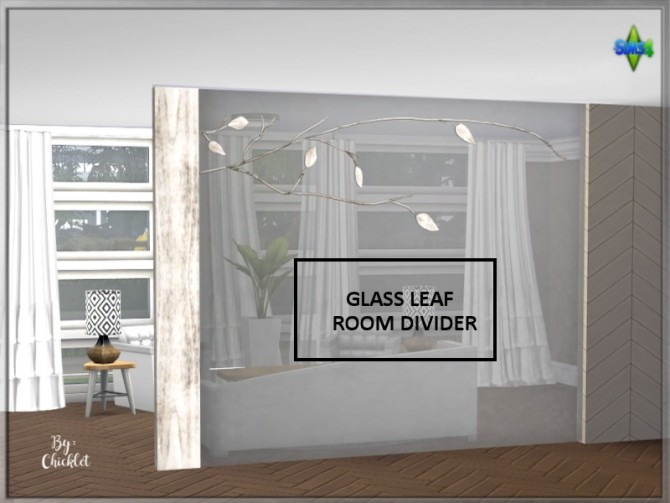 Sims 4 Glass Leaf Room Divider at Simthing New