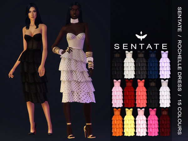 Sims 4 Rochelle Dress by Sentate at TSR