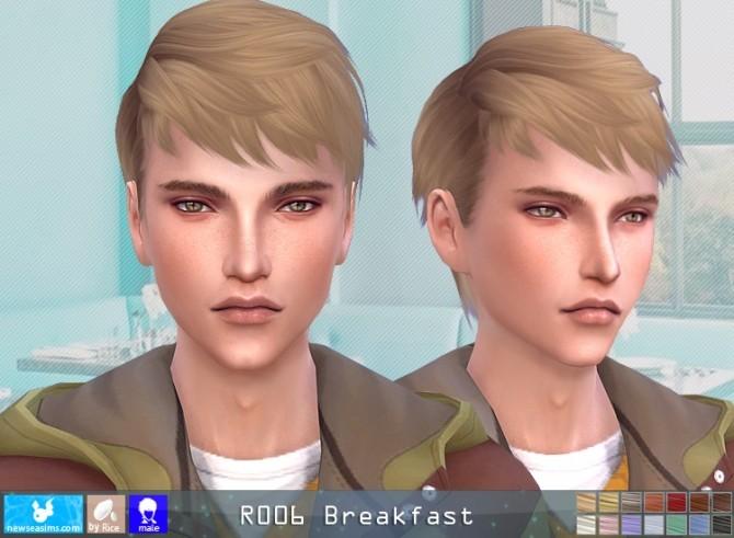 Sims 4 R006 Breakfast hair M (P) at Newsea Sims 4