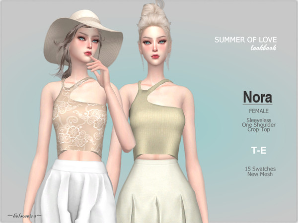 NORA Crop Top by  Helsoseira at TSR image 1695 Sims 4 Updates