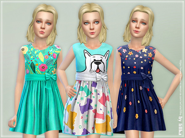 Sims 4 Girls Dresses Collection P128 by lillka at TSR