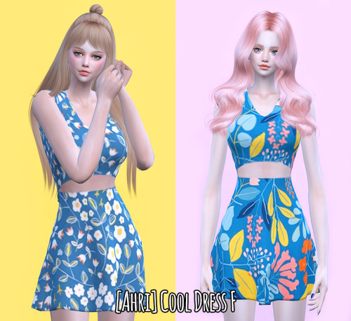 Sims 4 Cool Dress F at Ahri Sim4