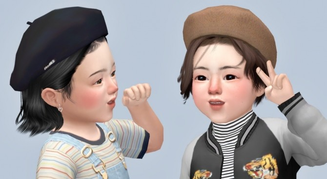 Sims 4 Beret for toddlers at Casteru