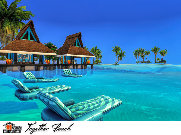 Sims 4 Together Beach house by autaki at TSR