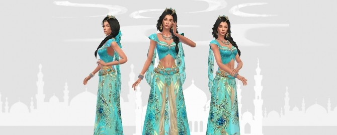 Princess Jasmine full body outfit and crown at HoangLap's Sims image 1803 670x268 Sims 4 Updates