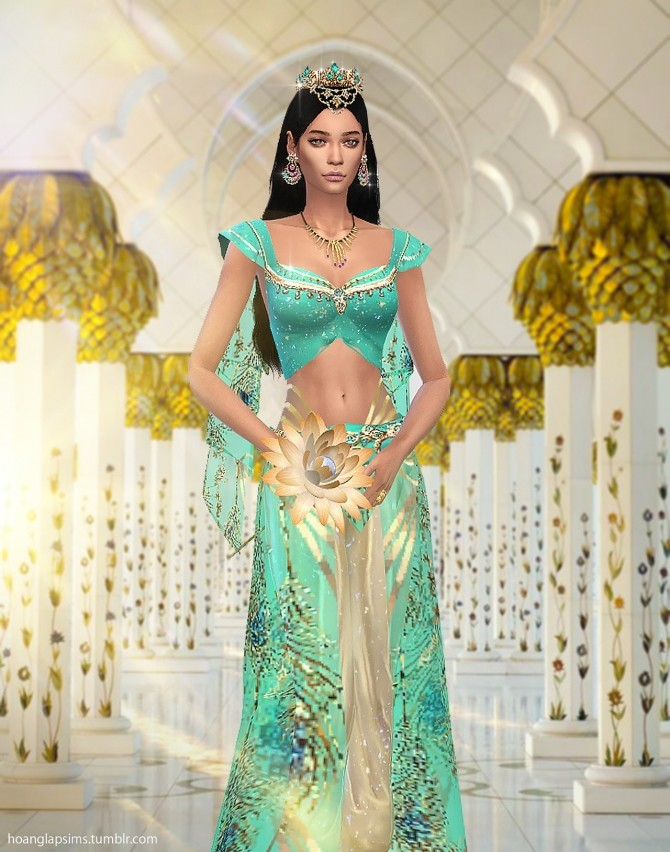 Princess Jasmine full body outfit and crown at HoangLap's Sims image 18110 670x852 Sims 4 Updates